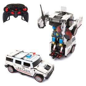 Робот-трансформер радиоуправляемый «Полицейский джип», работает от аккумулятора