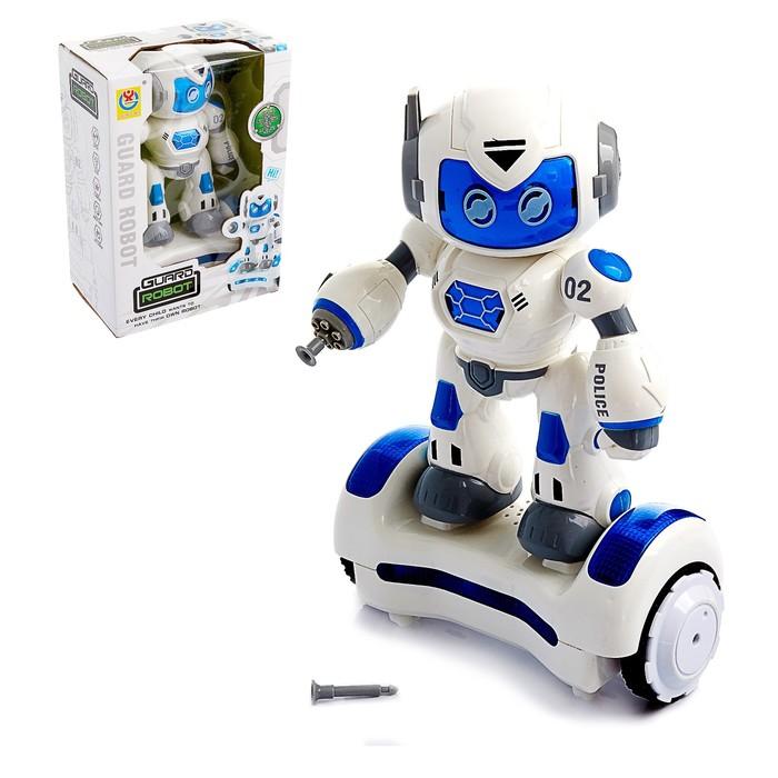Робот «Патрульный», световые и звуковые эффекты, работает от батареек