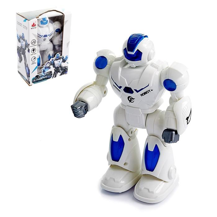 Робот «Миротворец», световые и звуковые эффекты, работает от батареек, цвета МИКС