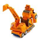 Робот «Автоэкскаватор», трансформируется, световые и звуковые эффекты, работает от батареек - фото 1013276