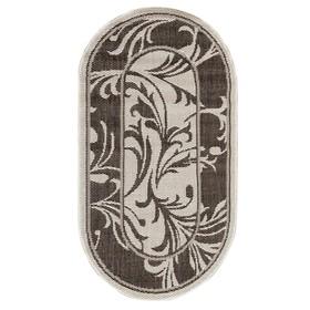 Ковер «Циновка», форма овал, размер 100х200 см