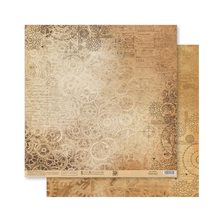 Бумага для скрапбукинга «Механизмы», 30.5 × 32 см, 180 гм