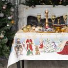 """Скатерть Этель """"Christmas time"""" 150х185см +/-3см с ГМВО, хл100%"""