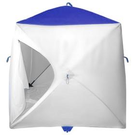 Палатка MrFisher 200, цвет белый/синий, в упаковке, без чехла