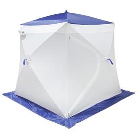 Палатка MrFisher 200 ST, цвет белый/синий, в упаковке, без чехла