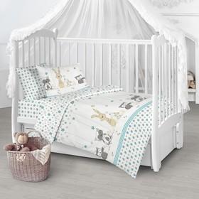 Детское постельное бельё «Зверята», 112х147, 100х150, 40х60см
