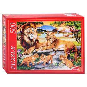 Пазл 500 элементов «Семья львов»