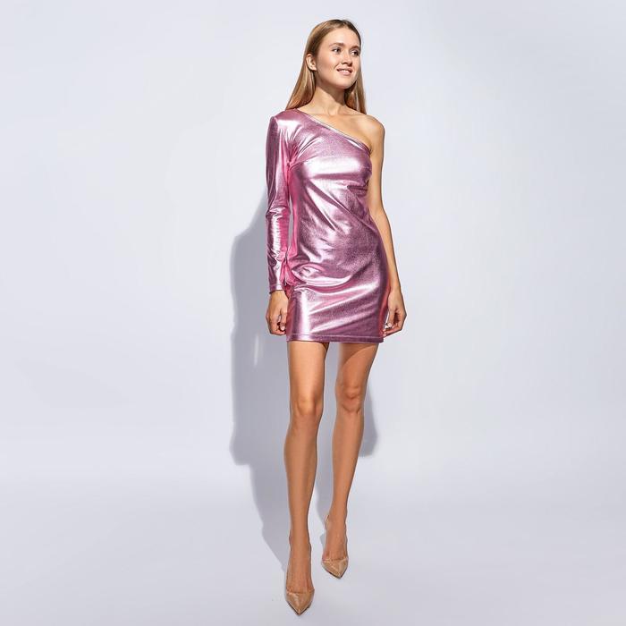 Платье короткое MINAKU, размер 46, цвет розовый - фото 725225142