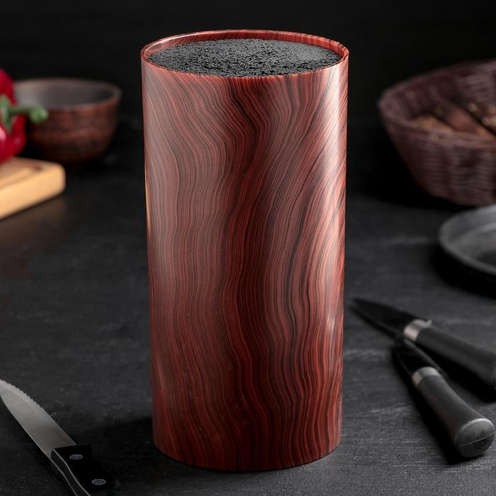 Подставка для ножей «Дерево», 11×22 см, с наполнителем
