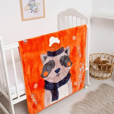 "Plaid Baby I ""Raccoon"" 100*140 cm, velsoft, 100% PE"