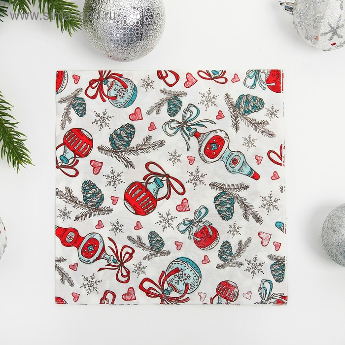 "Napkins ""Christmas toys"" set of 20 PCs"