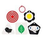 Развивающая игрушка по методике Г. Домана карточки на кольце «Зверята» 5шт, МИКС - фото 105528206