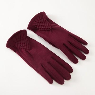 """Women's gloves MINAKU """"Style"""", size 17 , color Bordeaux"""