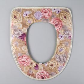 Чехол на сиденье для унитаза на резинке «Гобелен», 35×43 см, цвет МИКС