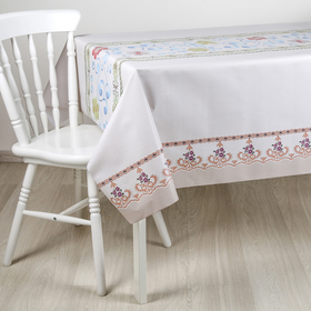 """The oilcloth a dining room on the fabric (roll 20 metres), width 137 cm """"Embroidery"""""""