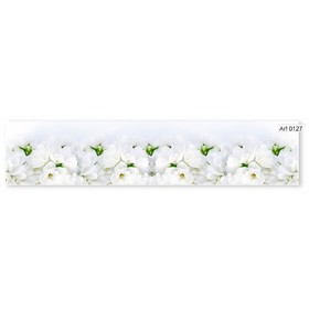 Кухонный фартук МДФ  Белые пионы 0127 2800х610х6мм