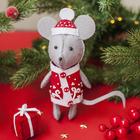 """Новогодняя игрушка из фетра """"Мышка"""""""