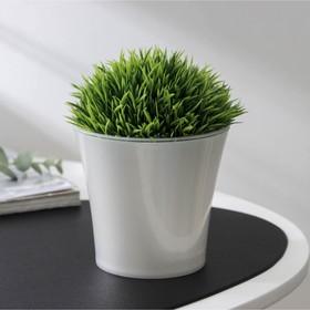 Кашпо со вставкой «Арте», 0,6 л, цвет жемчуг-прозрачный