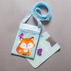 """Baby gift set """"of Fir of fir"""" bag+ brooch"""