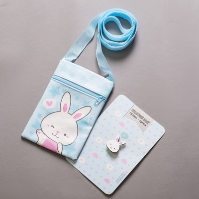 "Baby gift set ""My sweetheart"" bag+ brooch"