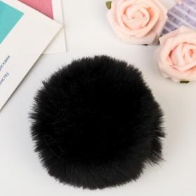"""Pompom faux fur """"Black"""" d=7 cm"""