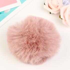 """Pompom faux fur """"Cappuccino"""" d=7 cm"""
