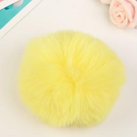 """Pompom faux fur """"Yellow"""" d=10 cm"""