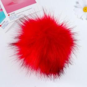 "Pompom faux fur ""Krasnoburogo the Fox"" d=13 cm"