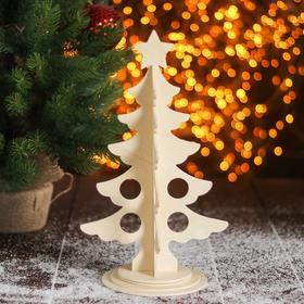 """Сборная деревянная модель """"Новогодняя ёлка"""""""