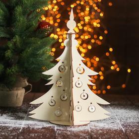 """Сборная деревянная модель """"Новогодняя ёлка с игрушками"""""""