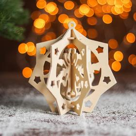 """Сборная деревянная модель """"Снежинка 8"""" (ёлочная игрушка)"""