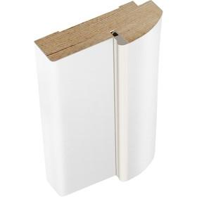 Дверная стойка эмаль радиус Белый, 2100х70х35
