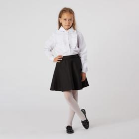 Школьная блузка для девочки, цвет белый, рост 158 см