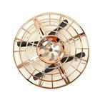 Летающая тарелка UFO, датчик движения, работает от аккумулятора, МИКС - фото 105641499