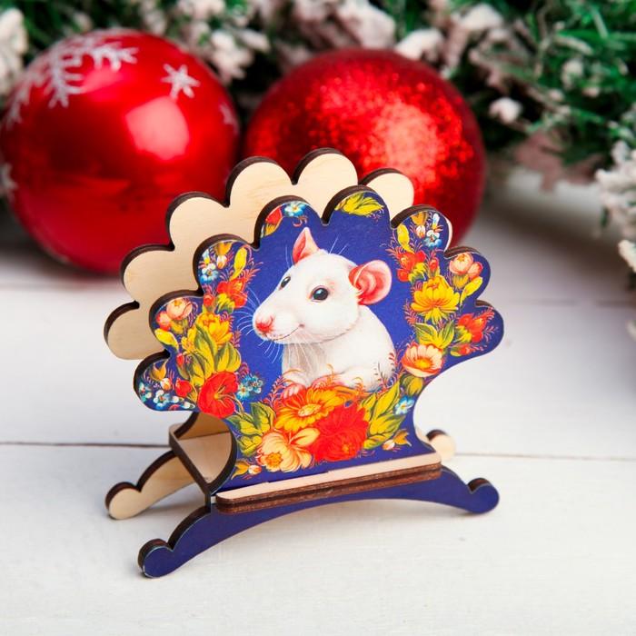 Салфетница «Крыска в цветах», 4×9,8×10,5 см