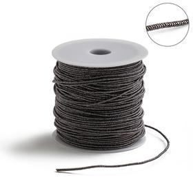 Проволока для плетения в обмотке Люрекс, d=1.5мм, L=100м, цвет бронзовый
