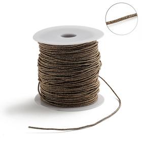 Проволока для плетения в обмотке Люрекс, d=1.5мм, L=100м, цвет медь