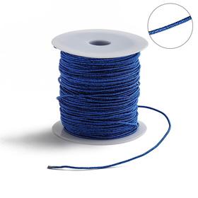 Проволока для плетения в обмотке Люрекс, d=1.5мм, L=100м, цвет ярко-синий