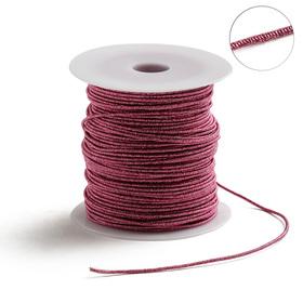 Проволока для плетения в обмотке Люрекс, d=1.5мм, L=100м, цвет розовый