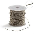 Проволока для плетения в обмотке Люрекс, d=1.5мм, L=100м, цвет светлое золото