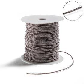 Проволока для плетения в обмотке Люрекс, d=1.5мм, L=100м, цвет серый