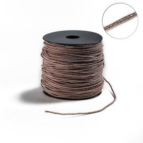 Проволока для плетения в обмотке Люрекс, d=2мм, L=100м, цвет розовое золото