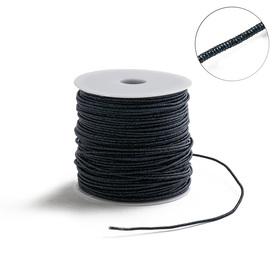 Проволока для плетения в обмотке Люрекс, d=2мм, L=100м, цвет темно-синий