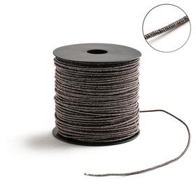 Проволока для плетения в обмотке Люрекс, d=2мм, L=100м, цвет бронзовый