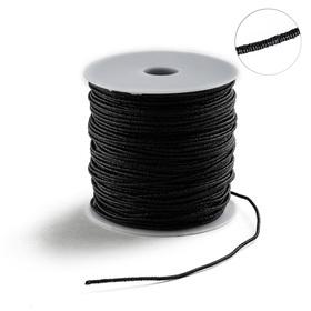 Проволока для плетения в обмотке Люрекс, d=2мм, L=100м, цвет черный