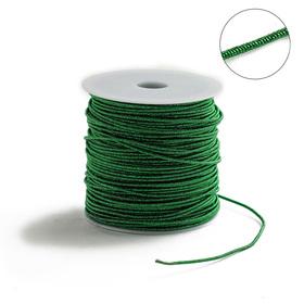 Проволока для плетения в обмотке Люрекс, d=2мм, L=100м, цвет зеленый
