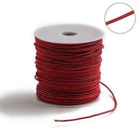 Проволока для плетения в обмотке Люрекс, d=2мм, L=100м, цвет красный