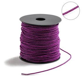 Проволока для плетения в обмотке Люрекс, d=2мм, L=100м, цвет фиолетовый