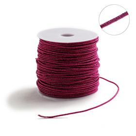 Проволока для плетения в обмотке Люрекс, d=2мм, L=100м, цвет малиновый