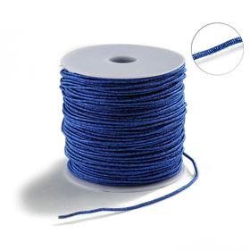 Проволока для плетения в обмотке Люрекс, d=2мм, L=100м, цвет ярко-синий